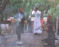 Маэстро белой и черной магии дон Хильберто проводит обряд изгнания болезни.